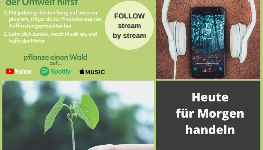 Musik hören und gleichzeitig Bäume pflanzen?